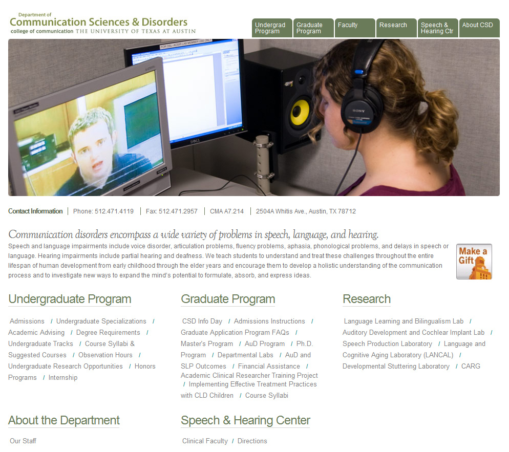 Communication Sciences & Disorders
